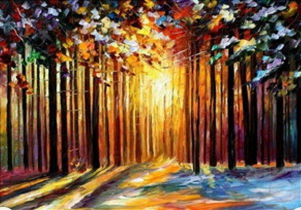 Pintura em tela Releitura de Leonid  100 x 100