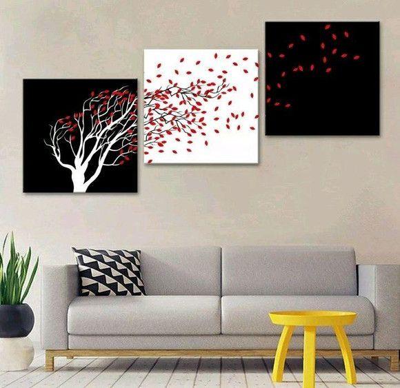 Pintura em tela quadro 120 cm x 40 cm