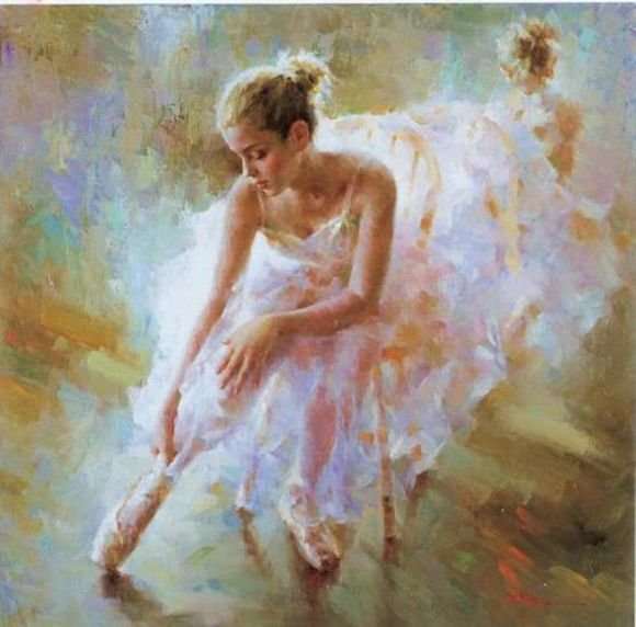 Quadro Pintura à óleo Bailarina