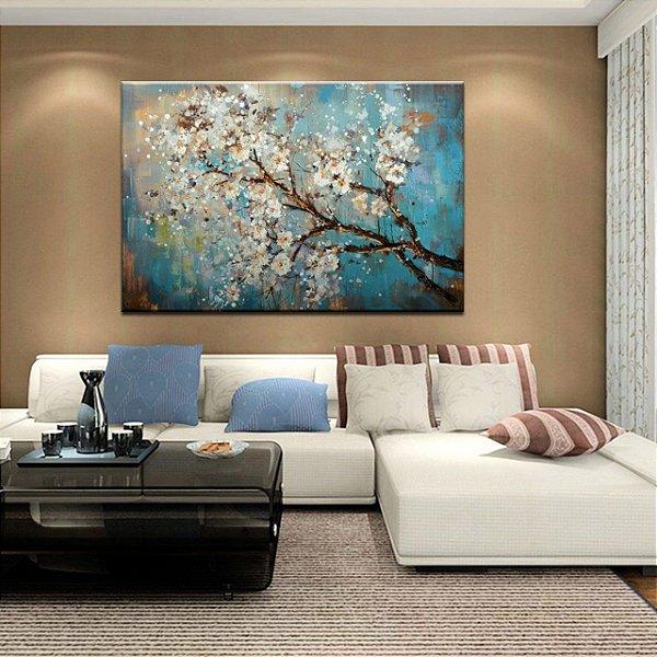 Pintura em Tela Árvores Modernas Espatulado Efeito 3d