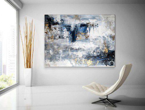 Quadro Pintura Em Tela Abstrato Moderno