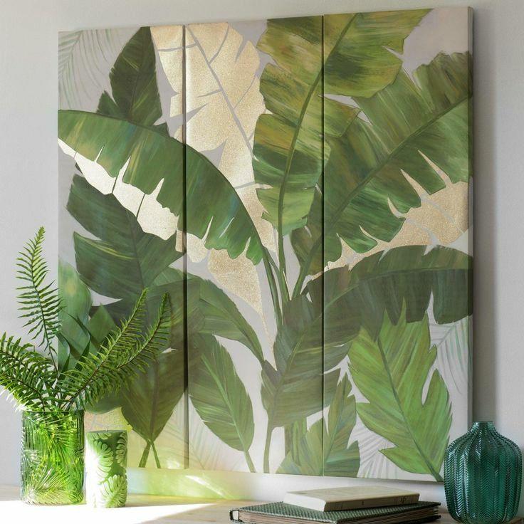 Quadro Pintura em Tela Folhas da Bananeira