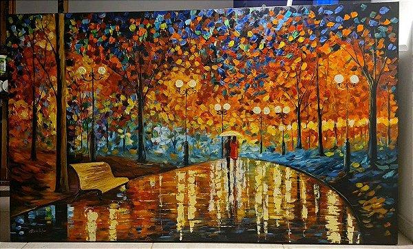 Pintura em tela feita à mão quadro , releitura leonid