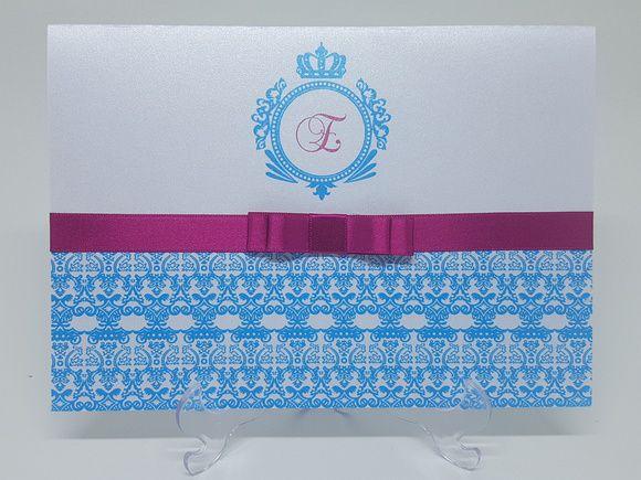 Convite debutante Tiffany e pink
