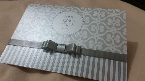 Convite casamento perolizado/ metalizado