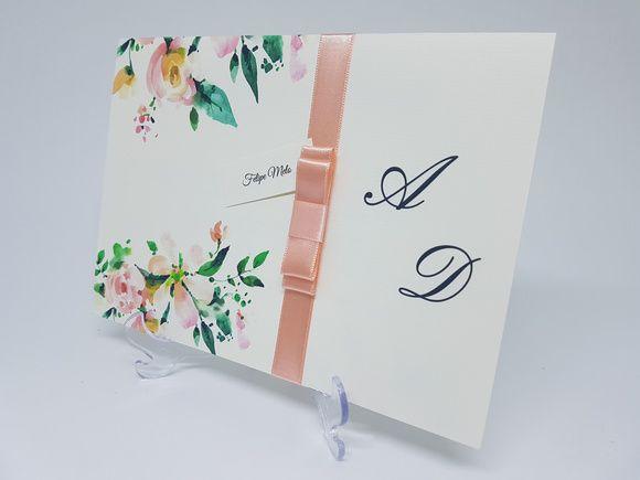 Convite floral folhagens