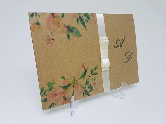Convite para casamento rustico floral