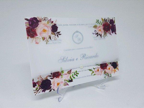 Convite vegetal floral