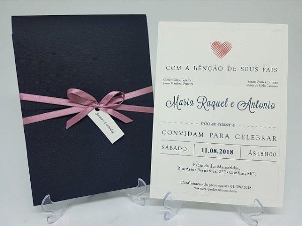 Convite preto e rose