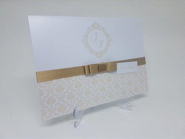 Convite casamento classico palha
