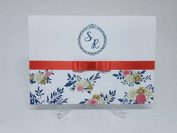 Convite floral tropical verão
