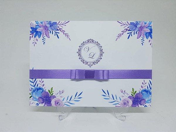 Convite casamento ultra violet violeta