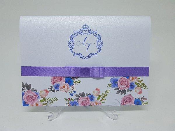 Convite casamento lilás violeta