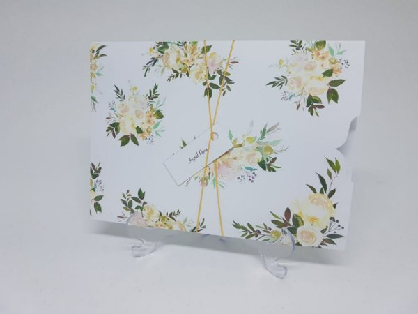 Convite casamento floral envelope