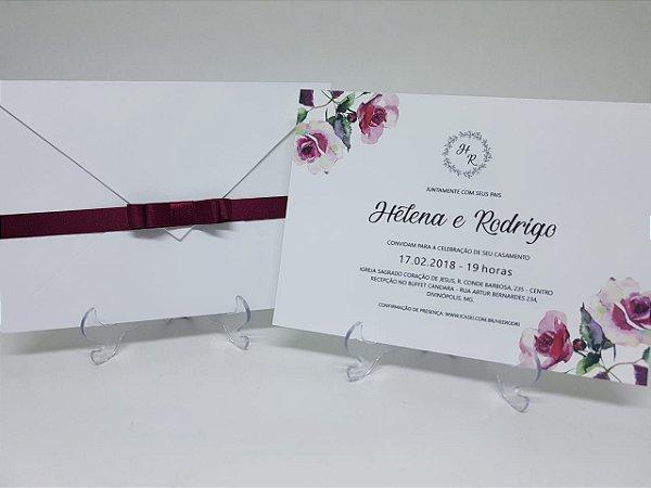 Convite marsala flores