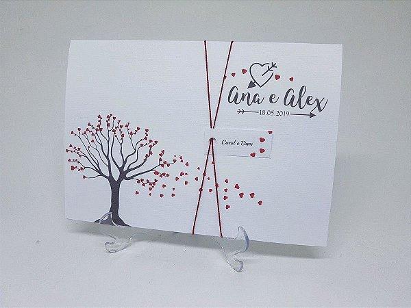 Convite casamento casal árvore