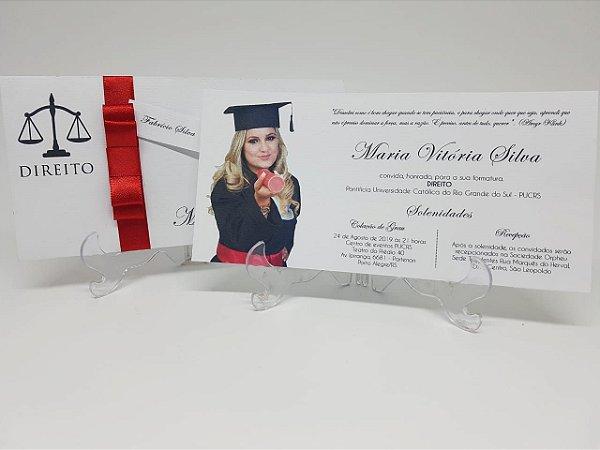 Convite formatura envelope luva