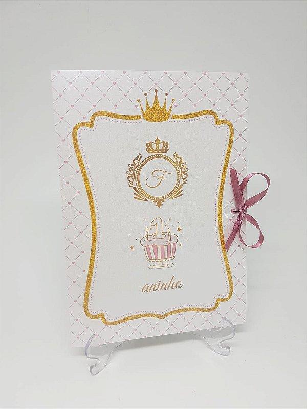 Convite realeza 1 aninho