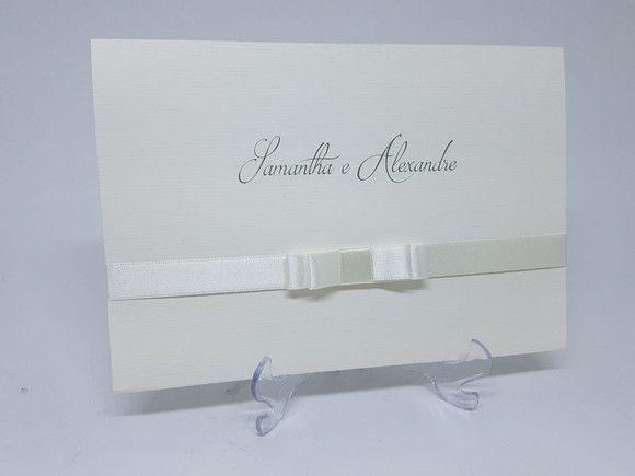 Convite casamento branco e classico