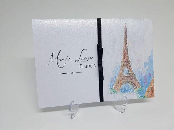Convite de debutante Paris Torre Eiffel