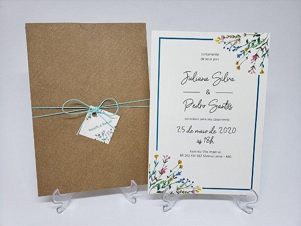 Convite de casamento Flores do Campo