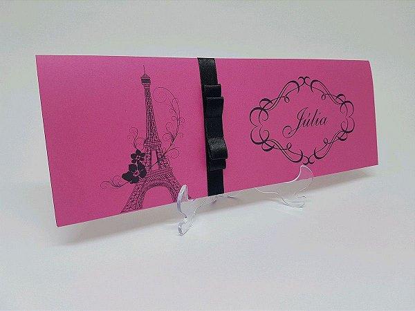 Convite Paris pink