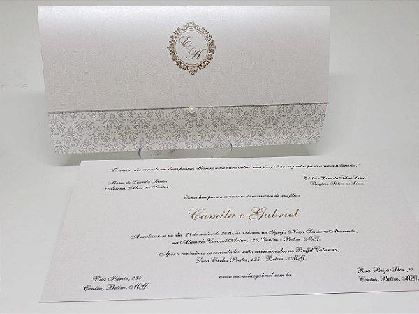 Convite de casamento classico luxo