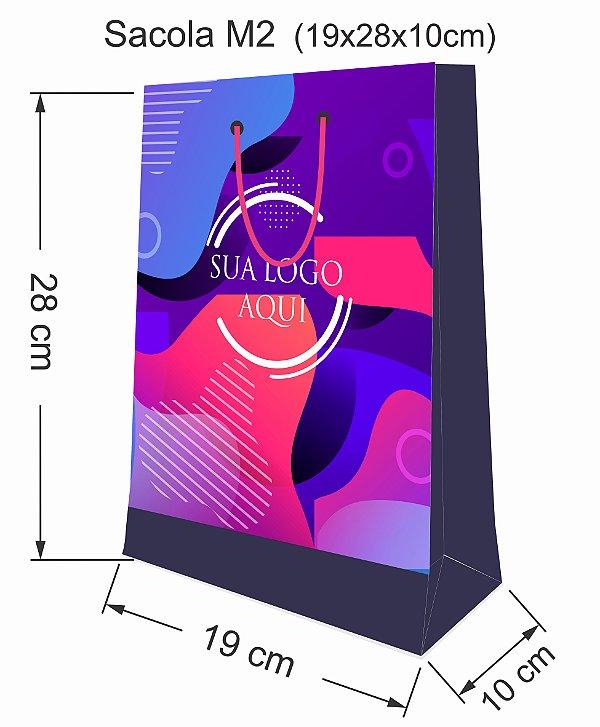 Sacola personalizada papel tamanho M2 - Kit com 250