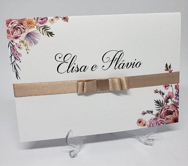 Convite casamento ROSE FOLK