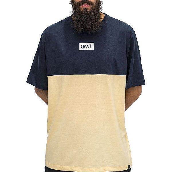 Camiseta Dublê Amarela e Azul Marinho