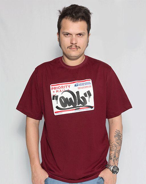 Camiseta Bordô OWL - Postal