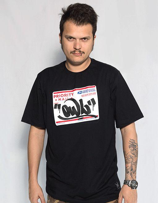 Camiseta Preta OWL - Postal