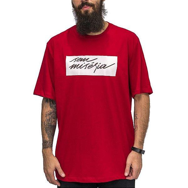 Camiseta Vermelha Sem Miséria Tag 2.0