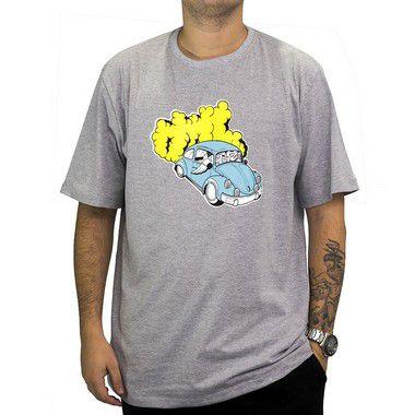 Camiseta Cinza Mescla - Fusca Azul