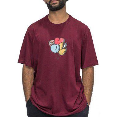 Camiseta Bordô - Festa