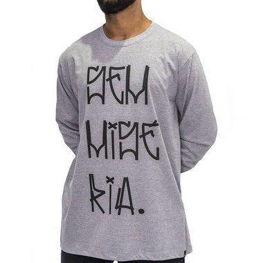 Camiseta M. Longa Cinza Mescla - Sem Miséria