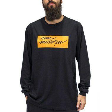 Camiseta M. Longa Preto - S. Miséria 2.0