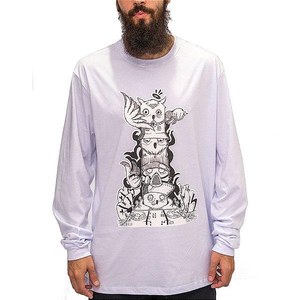 Camiseta M. Longa Branca - Totem