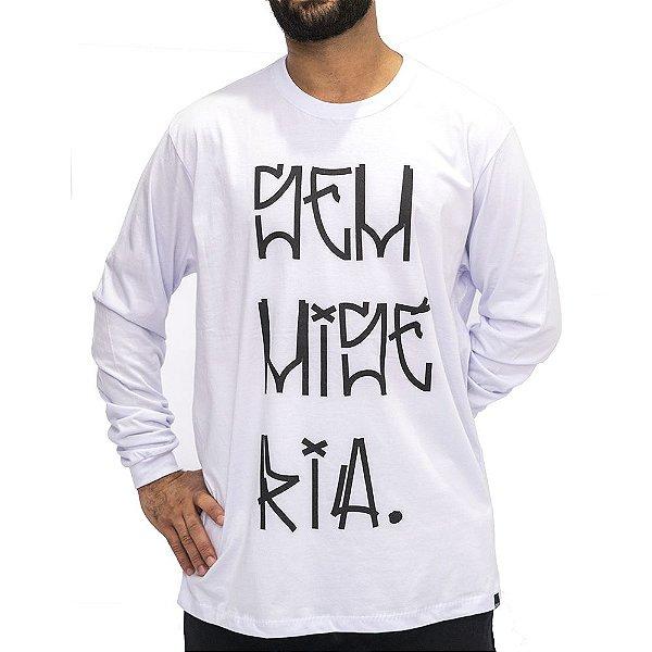 Camiseta M. Longa Branca - Sem Miséria