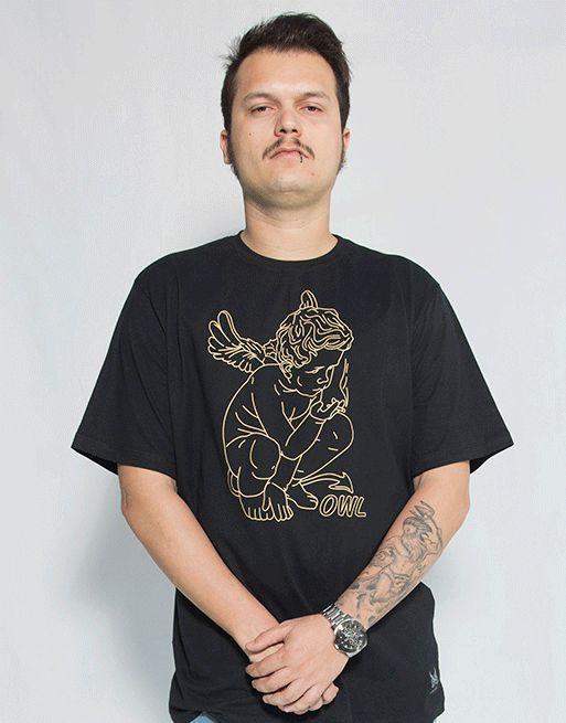 Camiseta Anjo - Preto