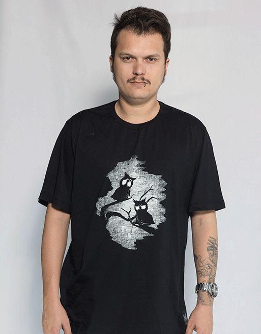 Camiseta Noturno - Preto