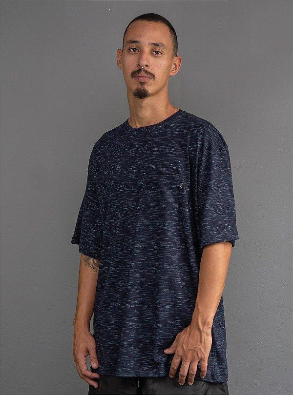Camiseta com bolso Cancun - Azul