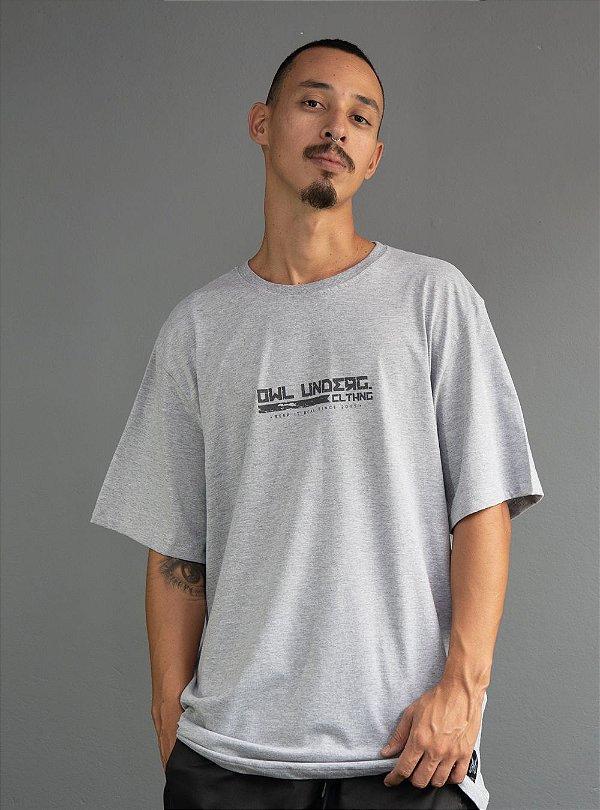 Camiseta Keep It Real - Cinza Mescla