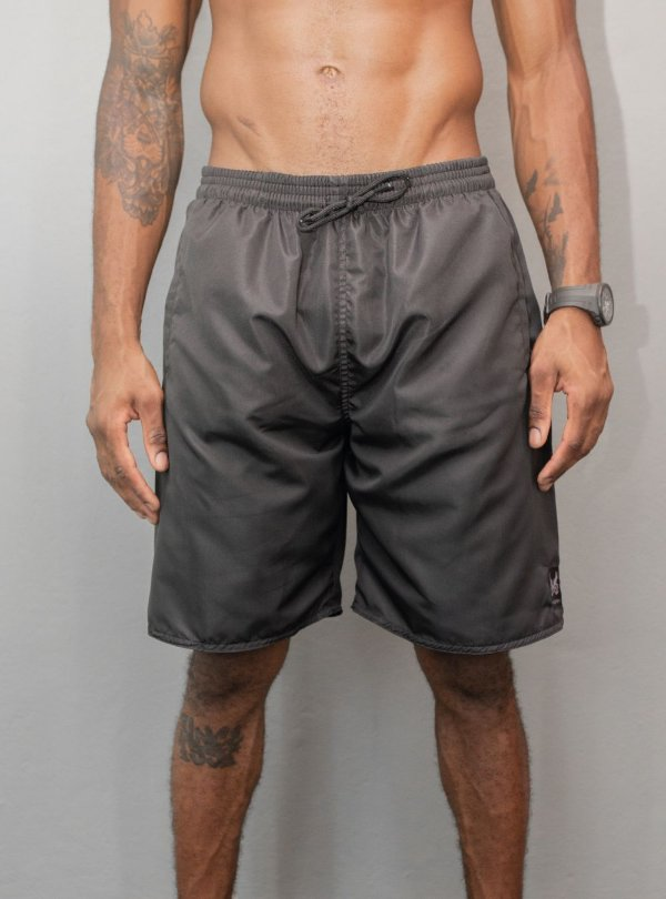 Shorts Tactel Logo - Preto