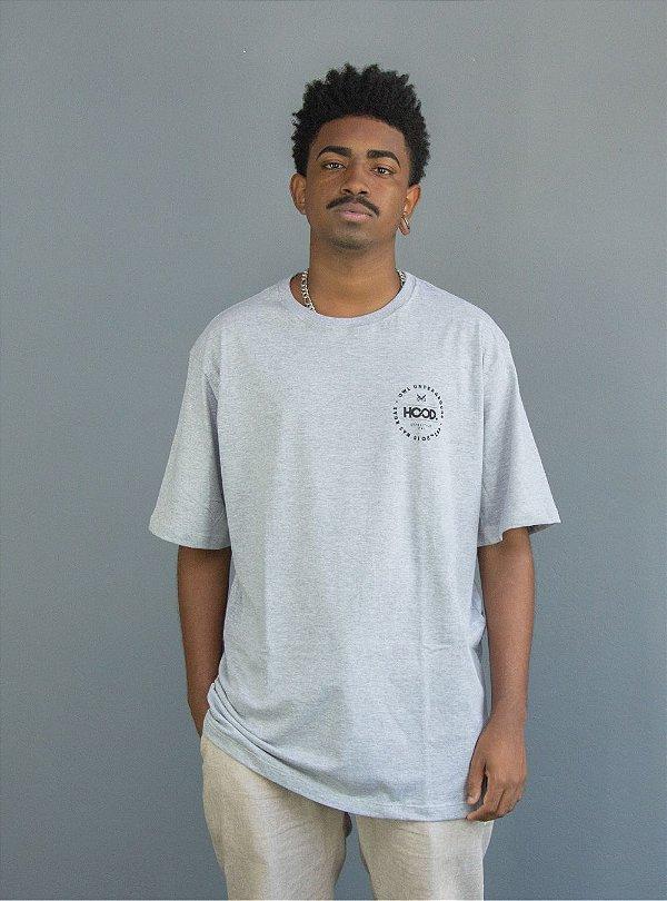 Camiseta OWL Hood Circle - Cinza Mescla