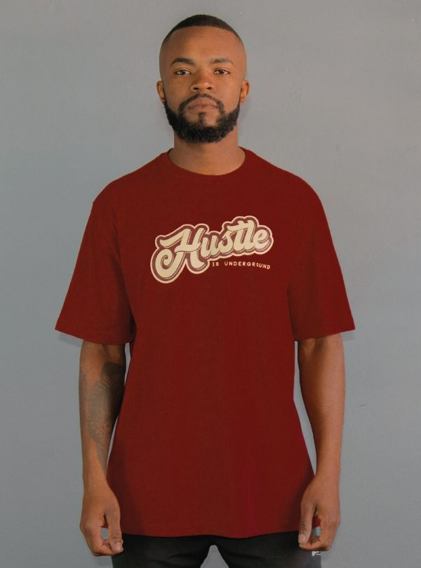 Camiseta Hustle - Bordô