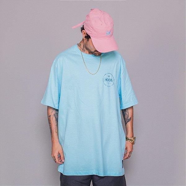 Camiseta OWL Hood Circle - Azul Ilhabela