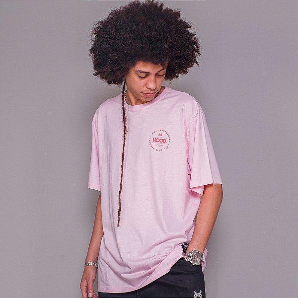 Camiseta Hood Circle - Rosa BB