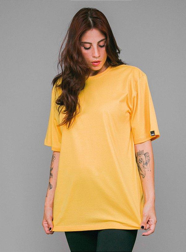 Camiseta Owl Lisa - Amarelo