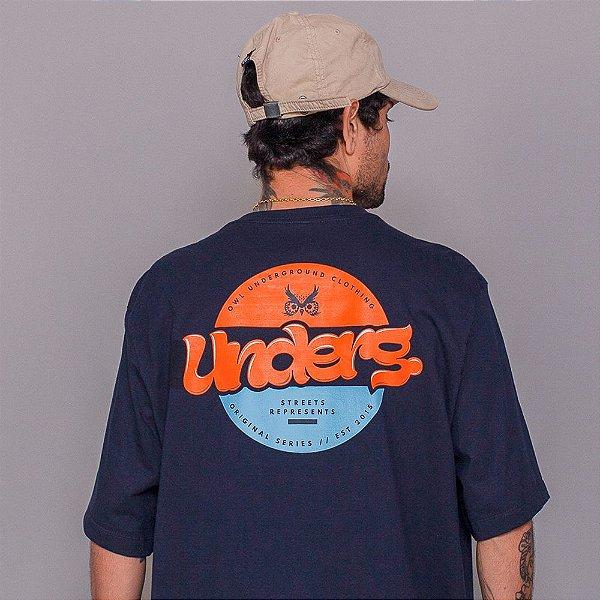 Camiseta Owl Underg - Marinho